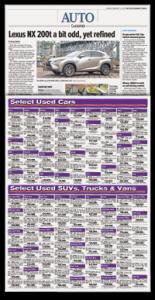 Auto section paper
