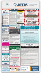 Careers section in paper