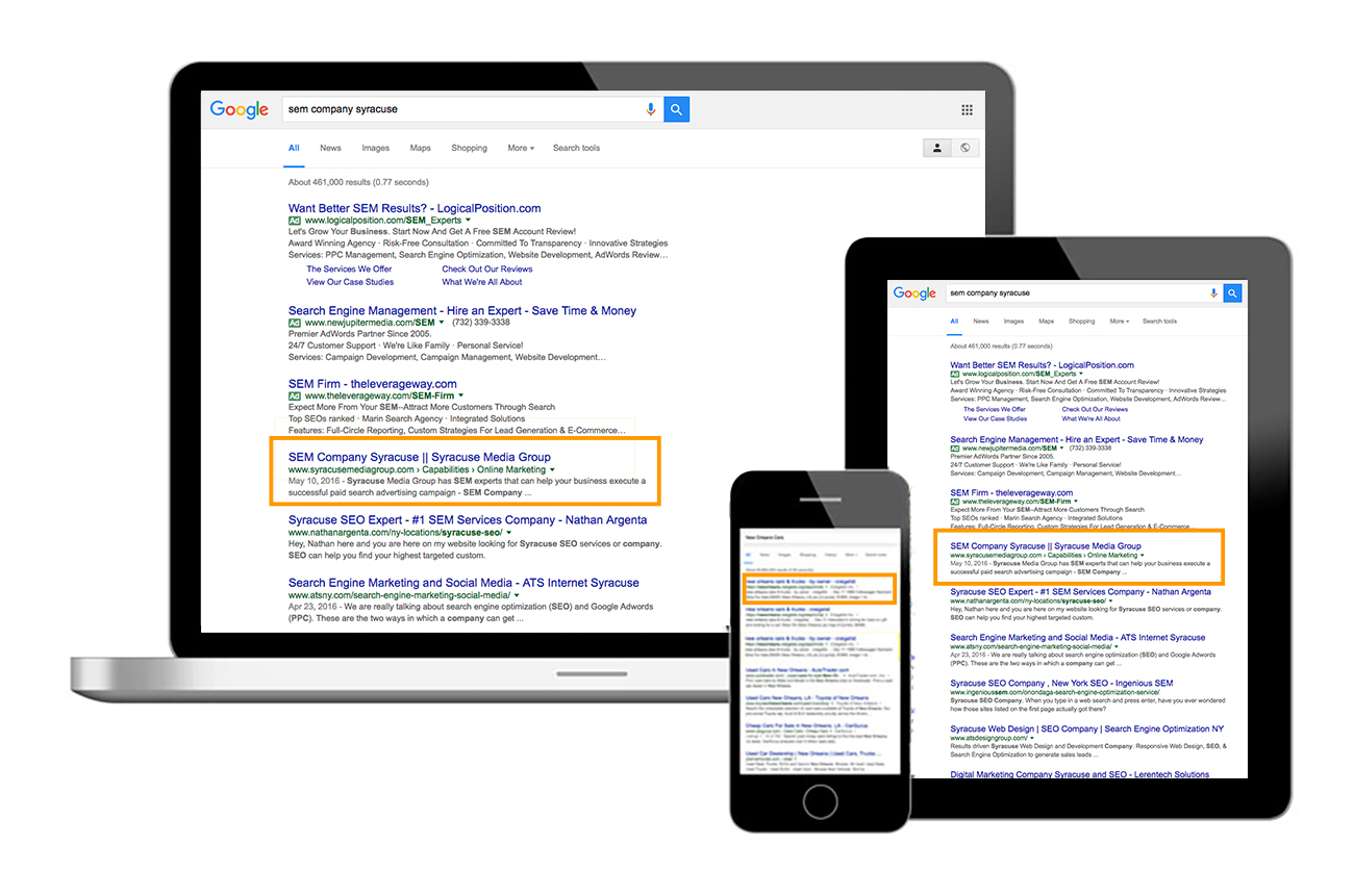 search engine optimization example