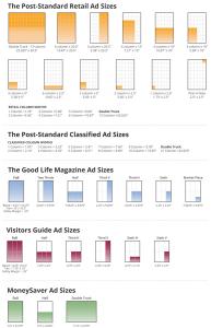 Print ad sizes