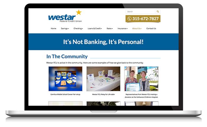 Westar Federal Credit Union Website