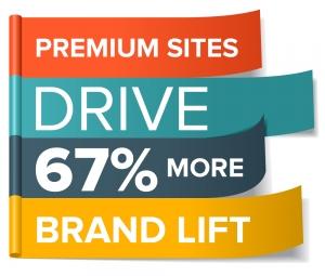 Premium sites drive 67% more brand lift
