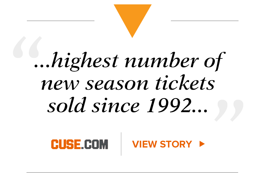Syracuse Football Season Tickets quote