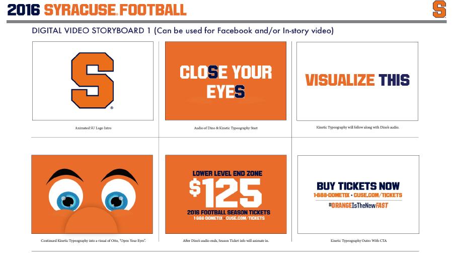 SU Football Storyboard