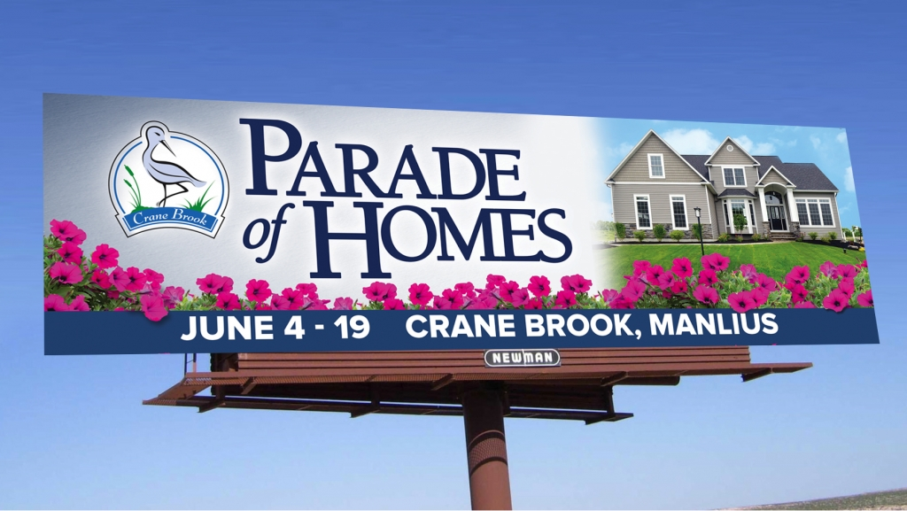 Parade of Homes billboard